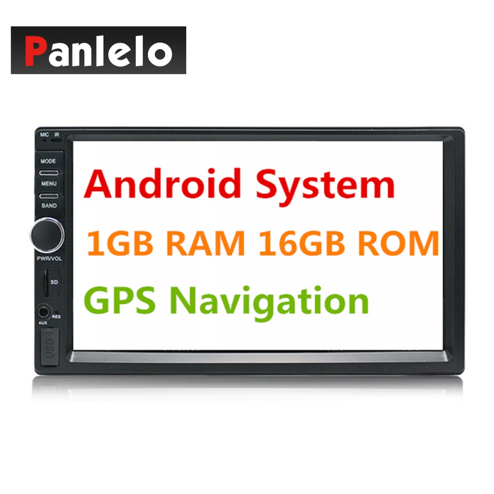 2 Din Android GPS Navigation Car Stereo 7 1024*600 Touch Screen 1GB+16GB Car Radio Autoradio Wifi Bluetooth FM USB Car Audio double din android 6 0 quad core 1gb 16gb car stereo 7 inch 1024x600 touch screen head unit gps navigation bluetooth wifi am fm