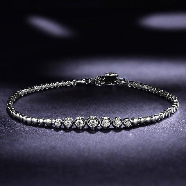 18K White Gold Diamond Bracelet 0.05+0.18ct Natural Diamond Jewelry Handmade Wedding Jewellery for Women