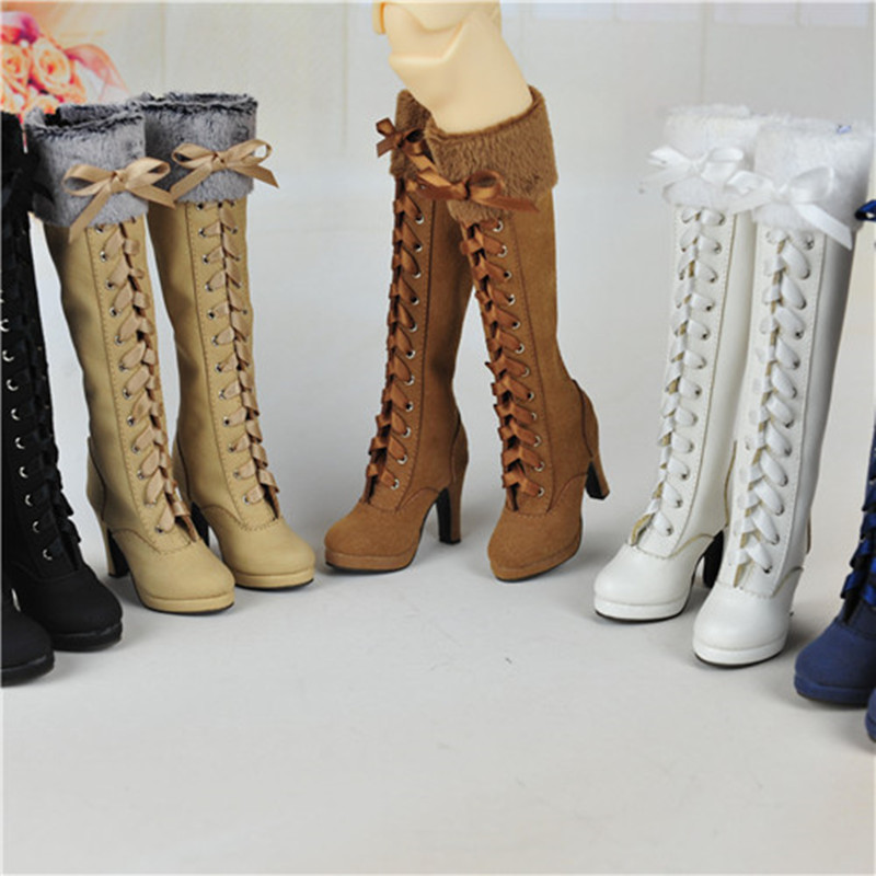 1/3 BJD Doll high-heel boots Plush lace boots 5 colors - SD10 SD13 dd uncle 1 3 1 4 1 6 doll accessories for bjd sd bjd eyelashes for doll 1 pair tx 03