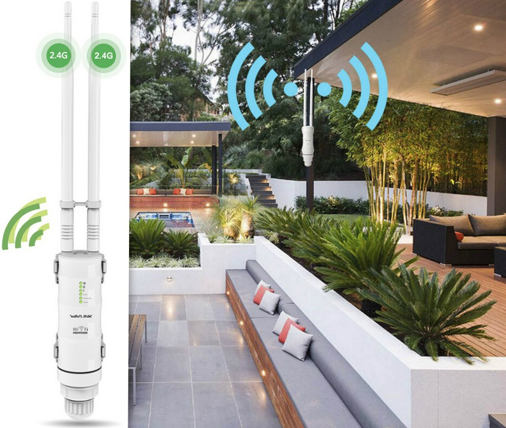 Wavlink High Power 300mbps Wireless Wifi Repeater/Extender Outdoor 2.4G Outdoor waterproof Wireless Wifi Router 1000mW Antennas