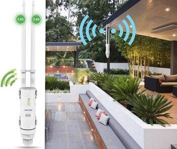 Wavlink de alta potencia 300 mbps Wifi inalámbrico repetidor/Extender al aire libre 2,4g impermeable al aire libre Router Wifi inalámbrico 1000 MW las antenas