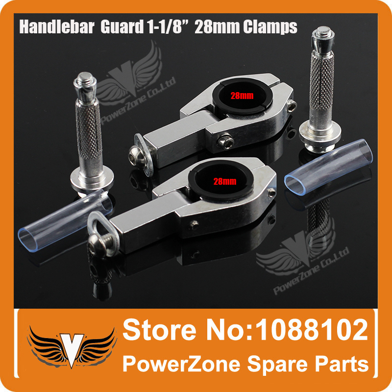 Motorcycle Motorcross Dirt Bike Handlebar handguards Hand Guards Clamps Fit 1-1/8 28mm Fat Bar Or 22mm Handlebar Free Shipping