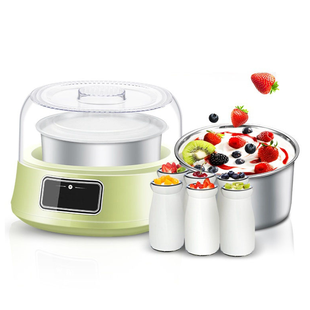 DMWD 220V 1.2L Electric Automatic Yogurt Maker Home DIY Fruit Yoghurt Fermenter Stainless Steel Container Kithchen Appliance