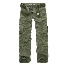 New 2017 Men's Cargo Pants For Men Military Straight Trousers Casual Cotton Camouflage Long Pants Plus Size 28-40()