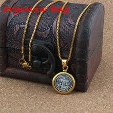 2шт Святого Бенедетто Медаль Крест религиозный кулон ожерелье