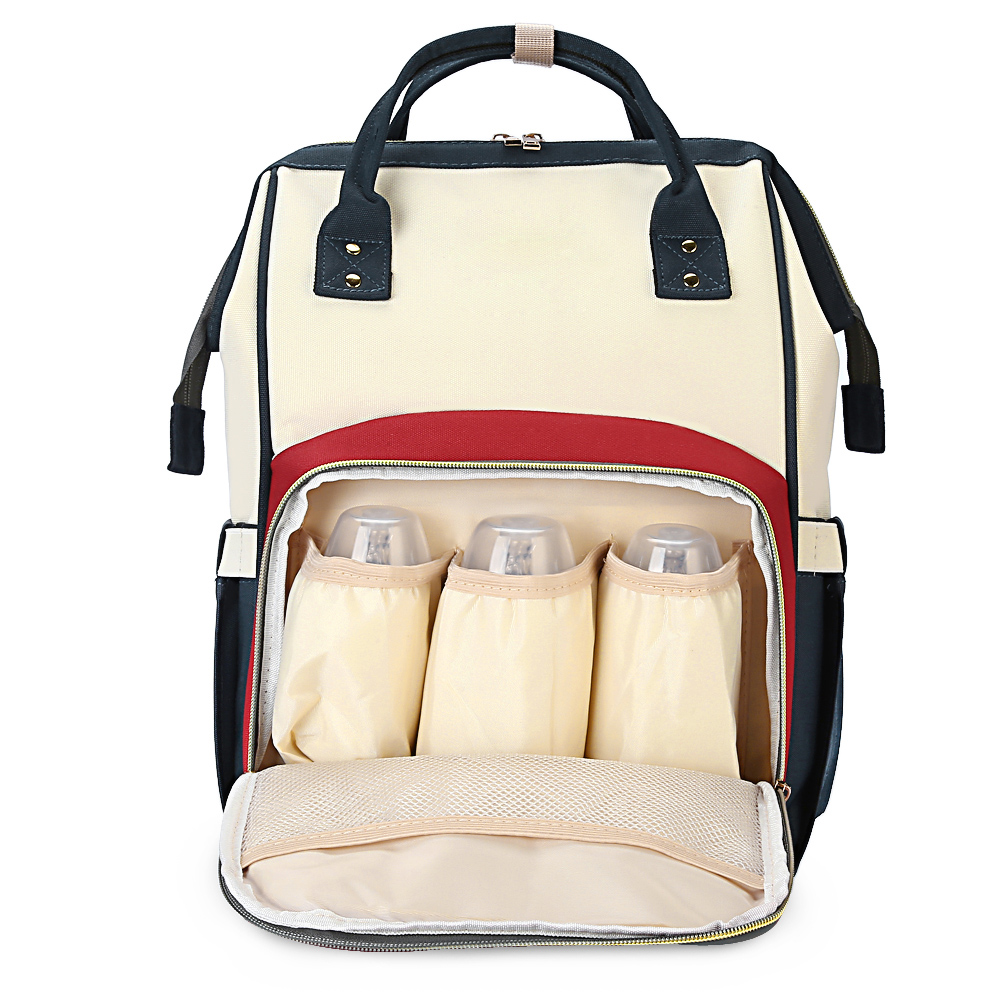 Waterproof Baby Diaper Bags Backpack Portable Mummy Maternity Backpack With Separate Pocket Fashion Nursing Nappy Bag For Travel