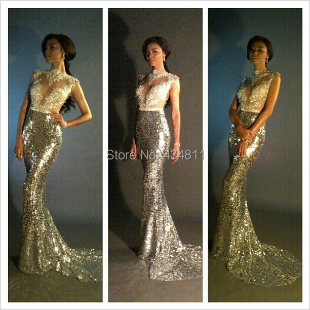 Aliexpress.com : Buy 2015 Best Fashion Gold Sheer Illusion High ...