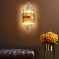 Glass Wandlamp LED Wall Light Fixtures Bedroom Modern Wall Lamps Creative Copper Sconce Lamp Home Lighting Nordic Stair Lights
