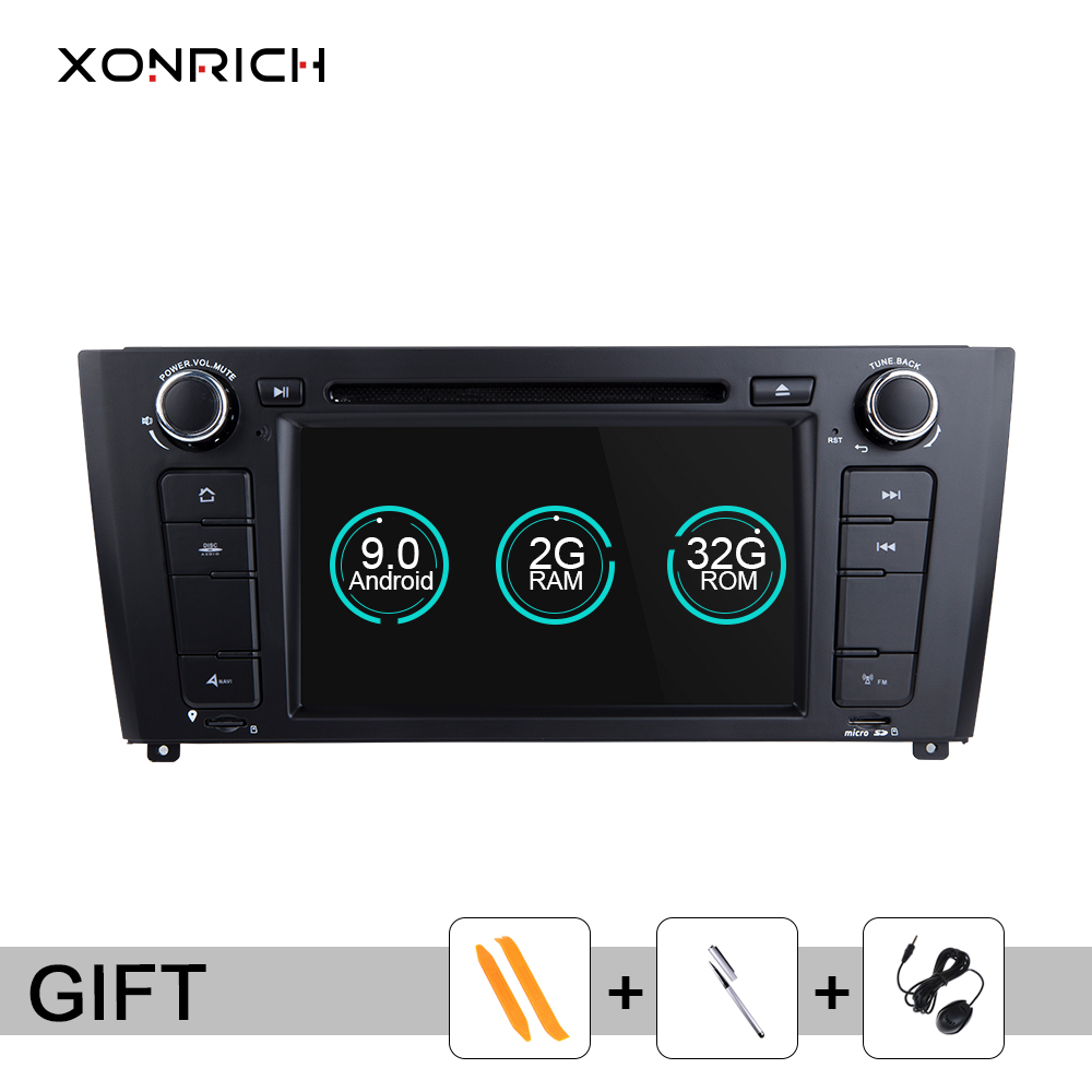 Xonrich 1 Din <font><b>Android</b></font> <font><b>9.0</b></font> Car DVD Multimedia Player For <font><b>BMW</b></font> <font><b>E87</b></font> <font><b>BMW</b></font> 1 Series E88 E82 E81 I20 Radio GPS Navigation head unit Wifi image
