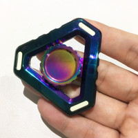 Wholesale 20Pcs Lot DHL Free Shipping Fidget Spinner Rainbow Triangle Alloy Hand Spinner Stress Relief Kid