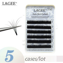 LAGEE 5 Cases Auto Fans Eyelash Extensions Easy fanning Lashes 0.05mm Blossom Russian Volume lash Magnetic Camellia