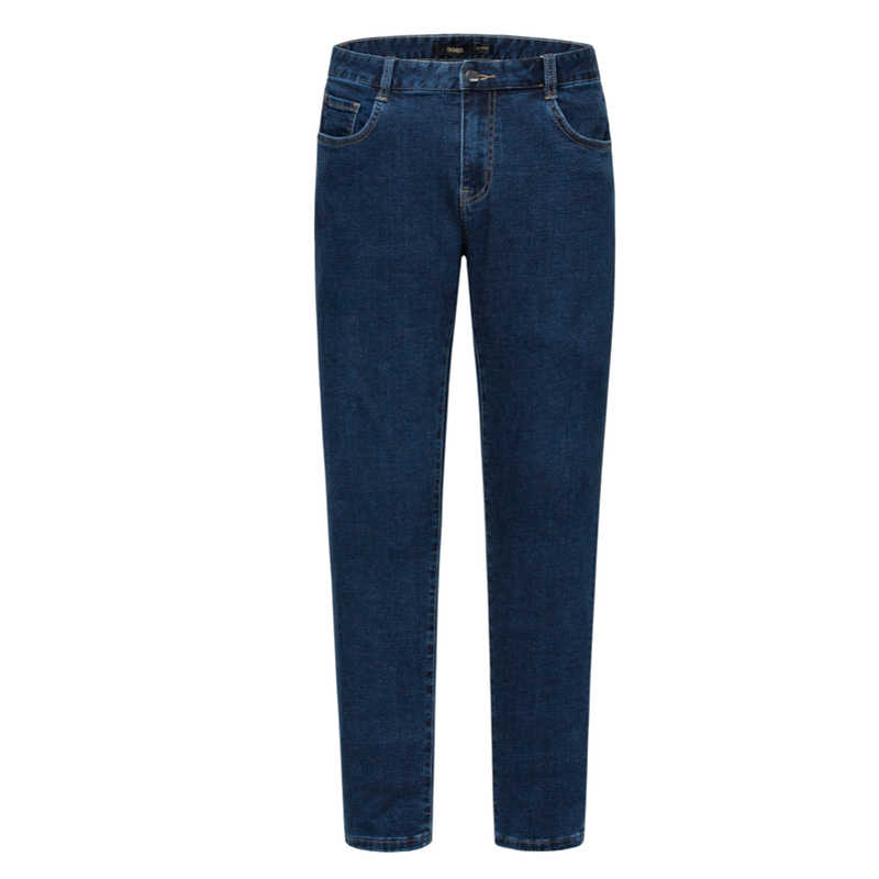 SEMIR Men Skinny Jeans Washed Denim with Side Pocket Men's Slim Fit Cotton Jeans with Zip Fly with Button in Retro Style