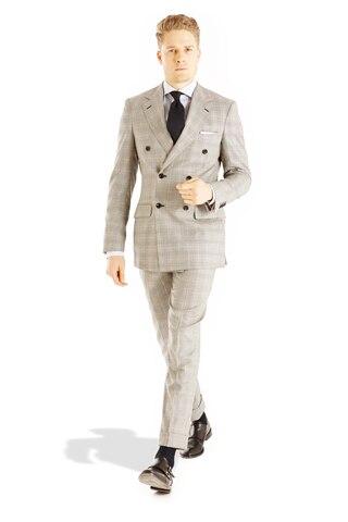 Breasted 100 Double Slim Costumes 2018 Hommes Mesure Boutons Chaude Clair Arrivée Nouvelle Six Vérifier Vente Gris Sur Fit Laine Personnalisé SqqxOpv7nw