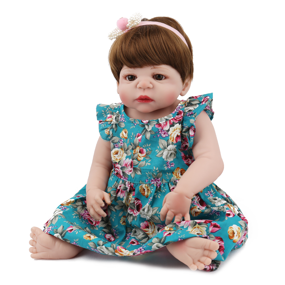 Kaydora 22 Inches Full Silicone Reborn Baby Doll Girl Toys Proncess Lovely Realistic Hair dolls Fashion Gift For Kids Children