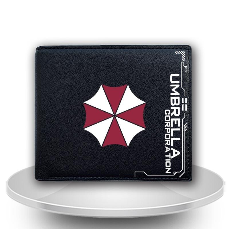 New Arrival PU Leather Short Billfiild biohazaed and unbrella pattern wallet film Resident Evil Fashion Purse Cards/Photo Holder