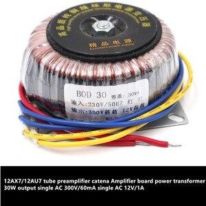 Image 1 - 12AX7/12AU7 tube preamplifier catena Amplifier board power transformer 30W output single AC 300V/60mA single AC 12V/1A