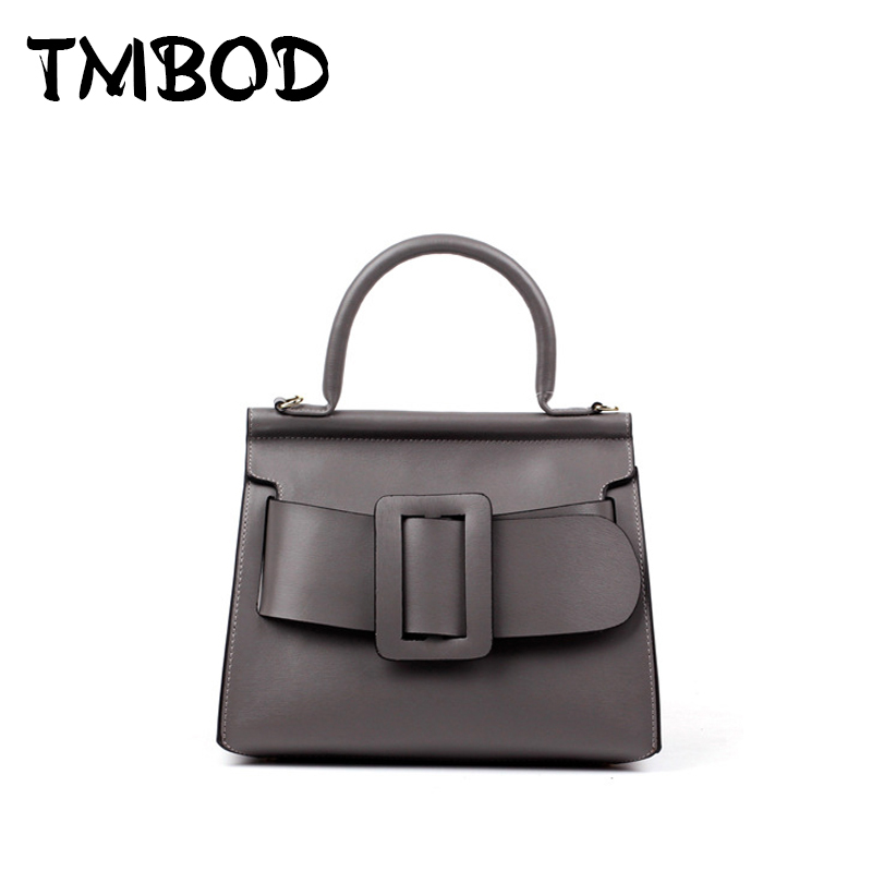 NEW 2018 Classic Buckle Tote Fashion Design Bag Cowhide Women Split Leather Handbags Celebrity Ladies Shoulder Bags an328 : 91lifestyle
