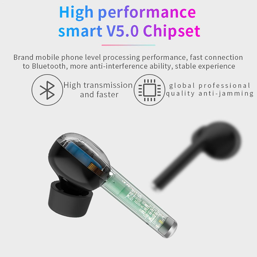 Image 5 - New TWS Wireless Bluetooth 5.0 Earbuds Stereo HiFi Sound Headset Handsfree Call Durable Earphones With Built in HD Microphone-in Bluetooth Earphones & Headphones from Consumer Electronics