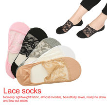 New Transparent Short Lace Socks Women Summer Hollow Out Boat Slippers Female Soft Low Invisible  shallow socks