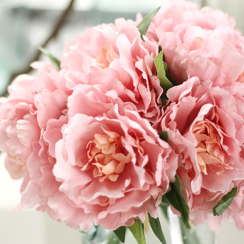High quality vivid peony bouquet posy decorative for Artificial flower for wedding decoration