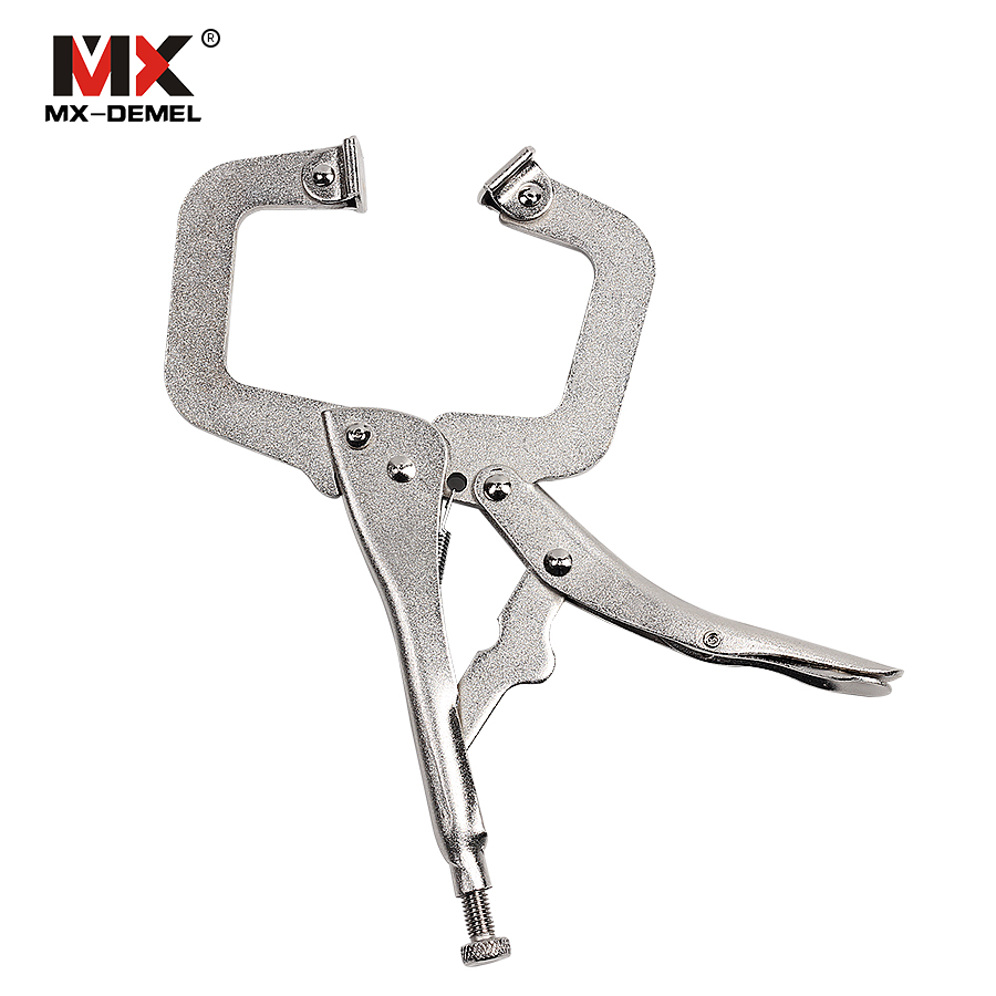MX-DEMEL 6 inches 9 inches 12 inches C-type High-carbon Steel Pliers Welding Clamp Manual Pliers Hand Tools Clamping Tools