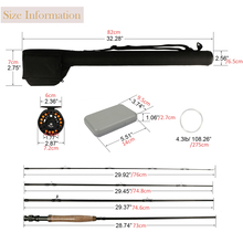 Goture 5/6 Fly Fishing Rod Set 2.7m Carbon Fly Fishing Rod Reel with Line Files Line Connector Fly Fishing Rod Combo