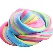 Squish Slime Fluffy Foam Scented No Borax Plasticine Slimes Anti Stress Relief Sludge Kid Clay Soft Toy Slime Antistress FE06d(China)