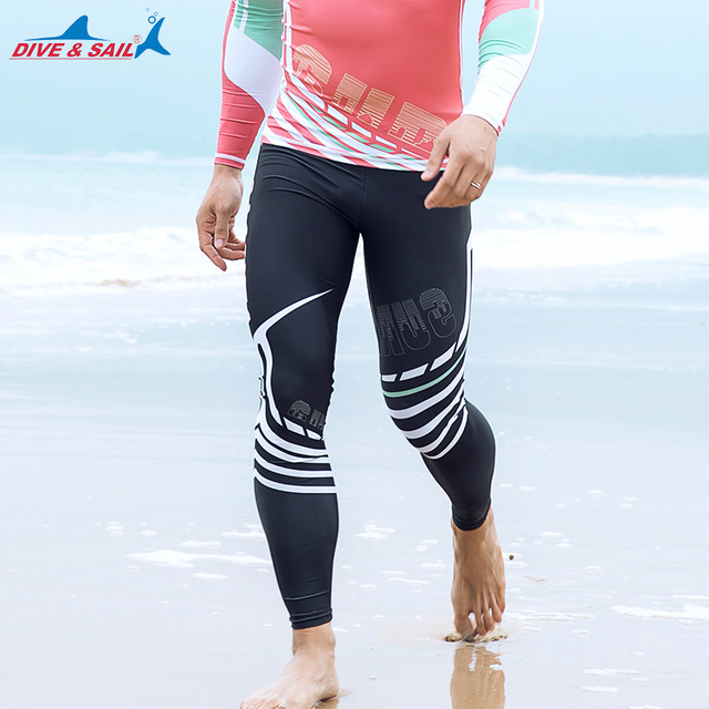 ba75faf1b6 Dive   Sail Men s Diving Wetsuit Skin Surfing Board Pants Swimming Trunks  Lycra UPF 50+