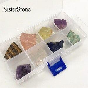 Image 4 - Pierres précieuses brutes en cristal quartz naturel 8 pièces, et minéraux de guérison, pierres brutes comme cadeau