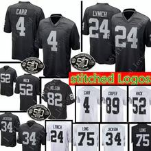 16551abb6 Oaklands Raider 4 Derek Carr 24 Marshawn Lynch Jersey Men's 82 Jordy Nelson  52 Khalil Mack · 21 Colors Available