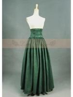 Olive Vintage Haute Taille Longue Jupe Victorienne
