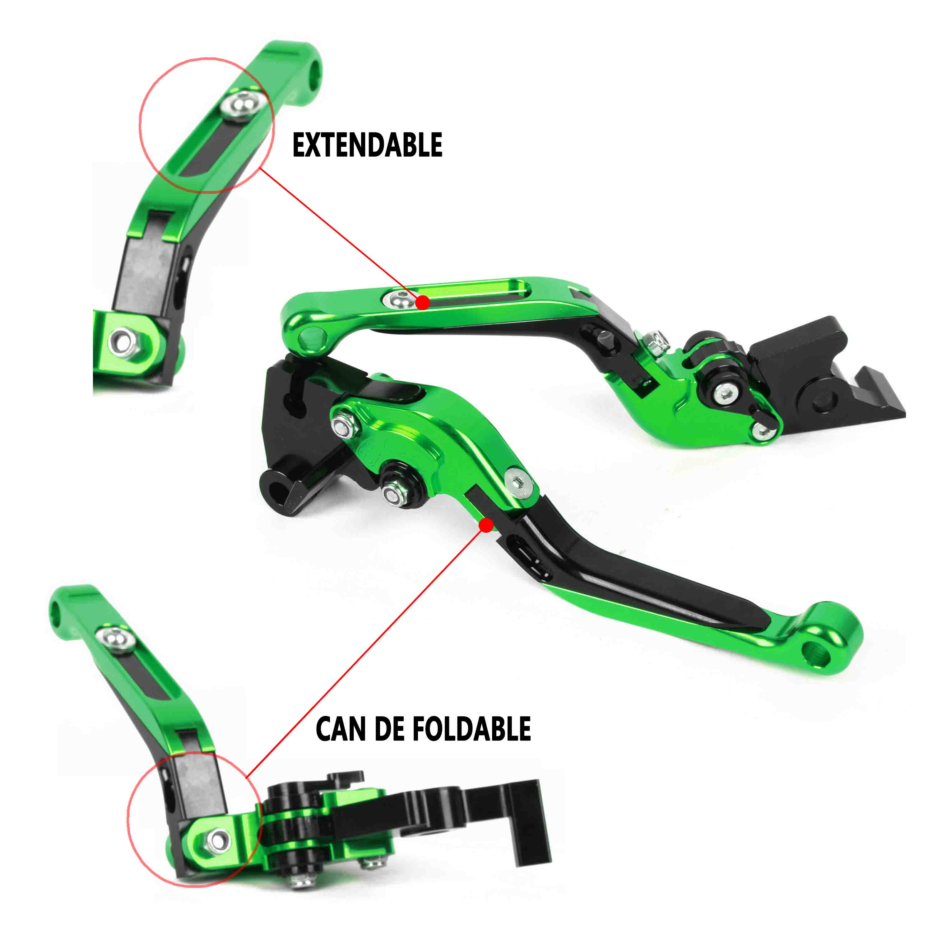 ФОТО For Kawasaki ER-6N/F 2009-2014 Foldable Extendable Brake Clutch Levers Aluminum Alloy CNC High-quality Folding&Extending 2013