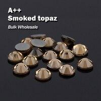 Smoked Topaz Groß Großhandel Heiße verlegenheit Rhinestones Ähnliche Swa AAA Qualität Strass Hotfix Steine und Kristalle Für Kleidung Dekoration