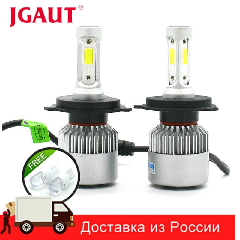 JGAUT S2 12V Car Headlight H4 LED H7 H1 H3 H11 H13 HB2 HB4 HB5 9004 9005 9006 9007 72W 8000LM Auto Headlamp 6500K Light Bulb