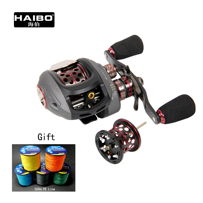 Haibo Smart baitcasting wheel reel 12+1BB  7.2:1 high speed ratio 50 51HMCS