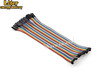 5pcs/lot Flexible 20cm Multicolor 40 Pin Female to Female Development Board Jumper Wires Dupont Ribbon Cable 2-to-2.54-pitch