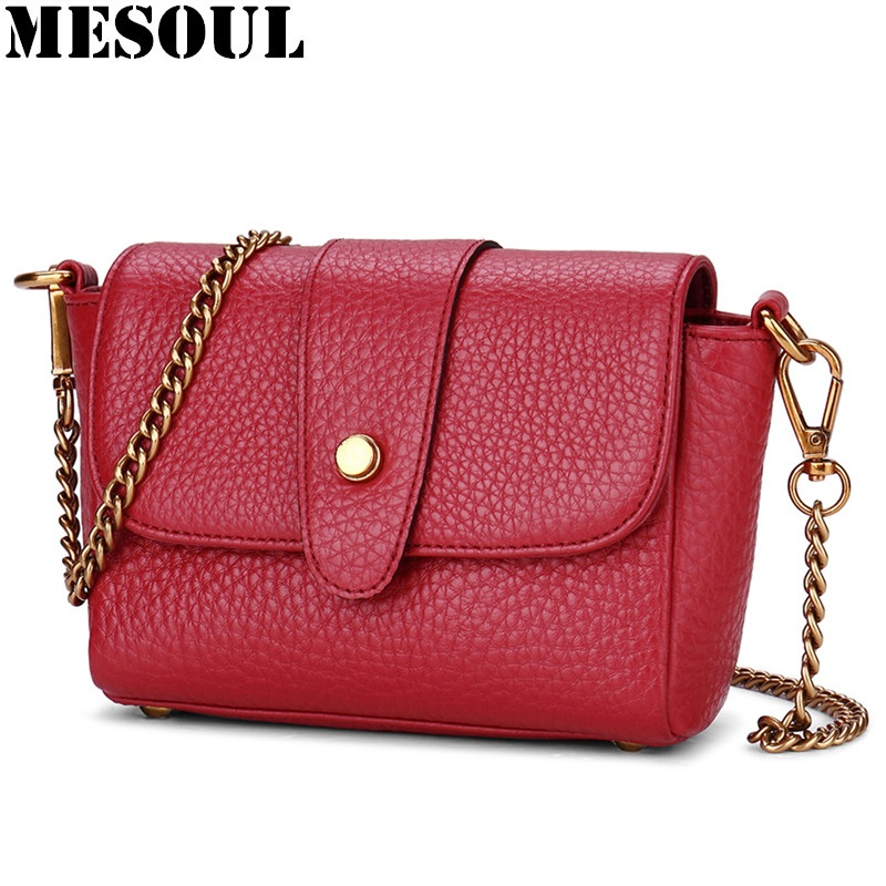Chains Female Genuine Leather Crossbody Bags Women Shoulder Bag Famous Brand Design Fashion Small Purse Mini Lady Messenger Bag zooler brand fashion women messenger bags famous design genuine leather shoulder crossbody bag crocodile pattern small bags