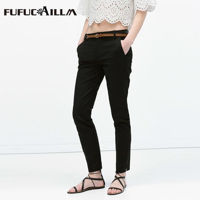 2016 Summer New Trousers for Women Long Cotton Casual Fashion Sashes 6 Color Cotton Pencil Harem Pants Plus Size 3xl FF085