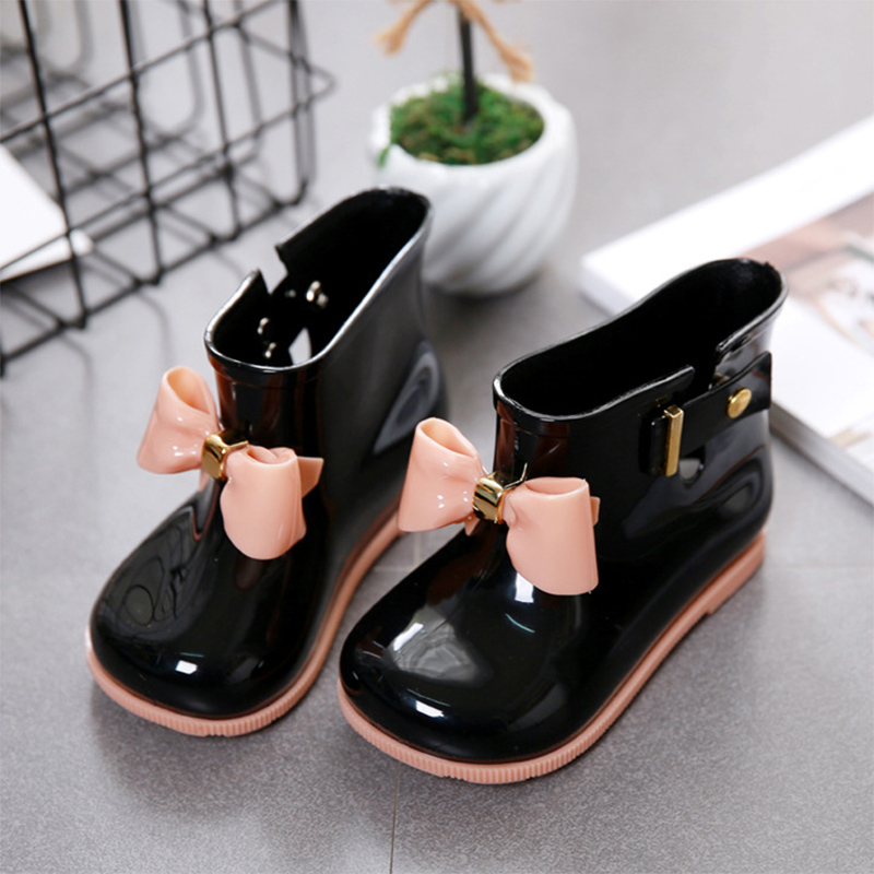 Waterproof Child Rubber Boots Jelly Soft Infant Shoe Girl Boots Baby Rain Boots Kids With Bow Girls Children Rain Shoes BowWaterproof Child Rubber Boots Jelly Soft Infant Shoe Girl Boots Baby Rain Boots Kids With Bow Girls Children Rain Shoes Bow