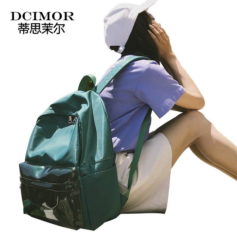DCIMOR Girl Waterproof Backpacks High Quality Mirror Travel bag School Bags For Teenager Girls Laptop Backbag Women Backpack