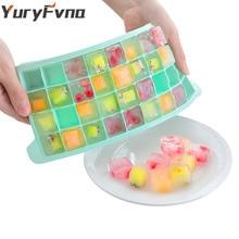 YuryFvna Ice Cube Tray Силиконовый кубик льда Форма квадратной формы 36-Ice DIY Fruit Ice Cream Maker Съемные крышки для бара