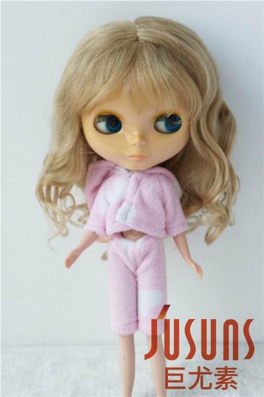 купить D20313L  Long Angola mohair BJD doll wigs size 10-11 inch pretty princess curly doll wigs дешево