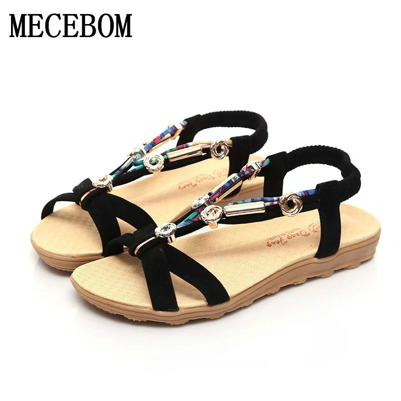 2018 Women Sandals Plus Size 36-42 Summer Shoes Woman Fashion Flip Flops Ladies Shoes Sandalias Mujer Black beige C12W covoyyar 2018 fringe women sandals vintage tassel lady flip flops summer back zip flat women shoes plus size 40 wss765