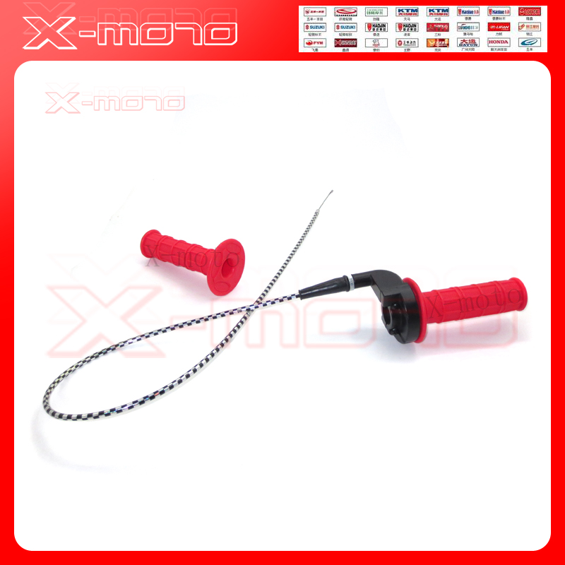 Super Soft Red Handle Girps+black-and-white Throttle Line Gas Settle Fox Apollo/PH11 Dirt Pit Bike Parts