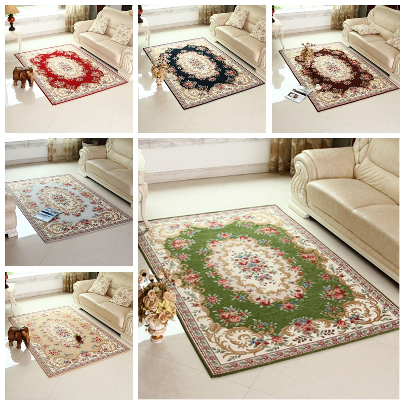 multi color acrylic room carpet kilim tapis for living