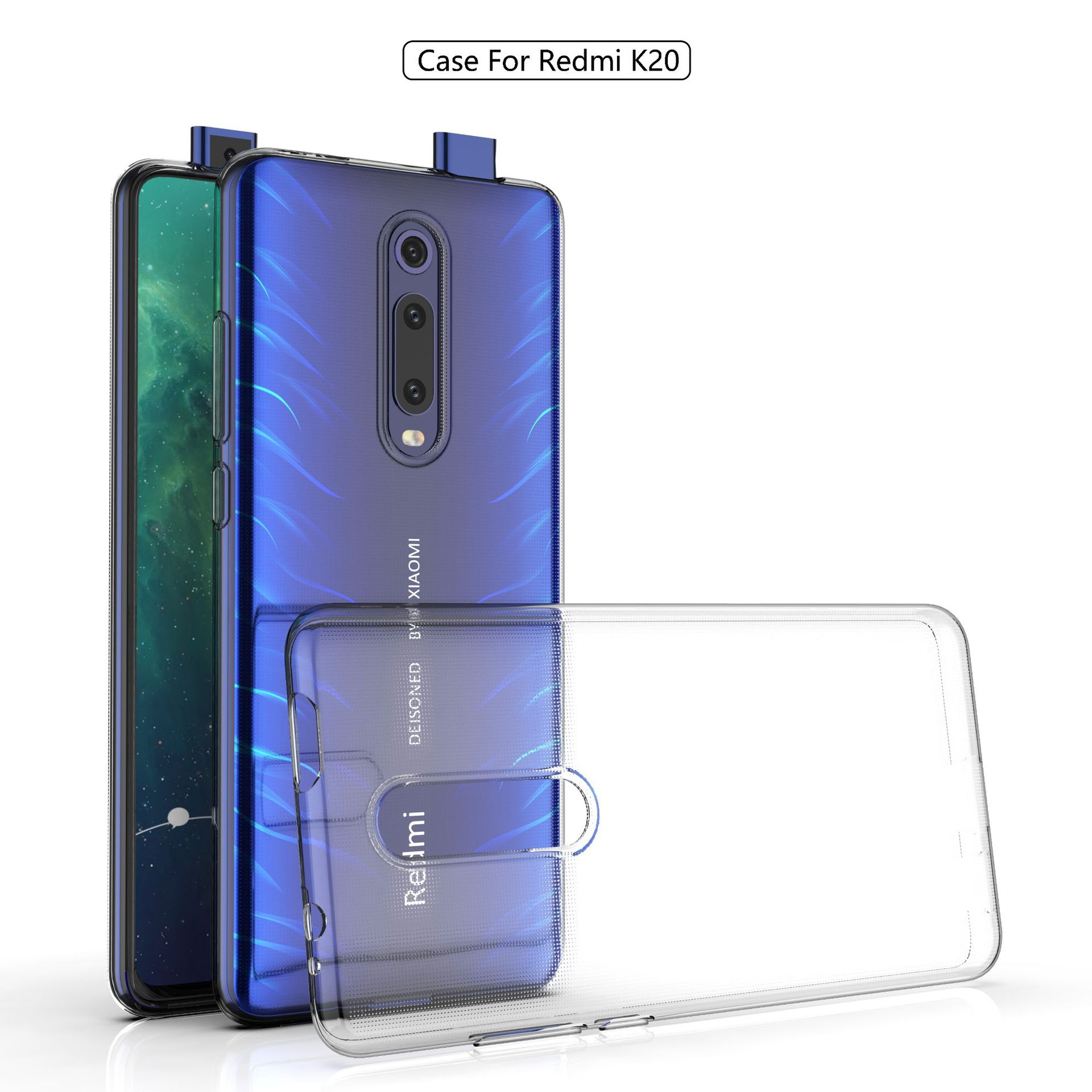 Ultra-thin transparent Soft TPU case For Xiaomi Redmi K20 Pro slim Protective back cover for xiaomi mi 9t pro mi9t phone shell(China)