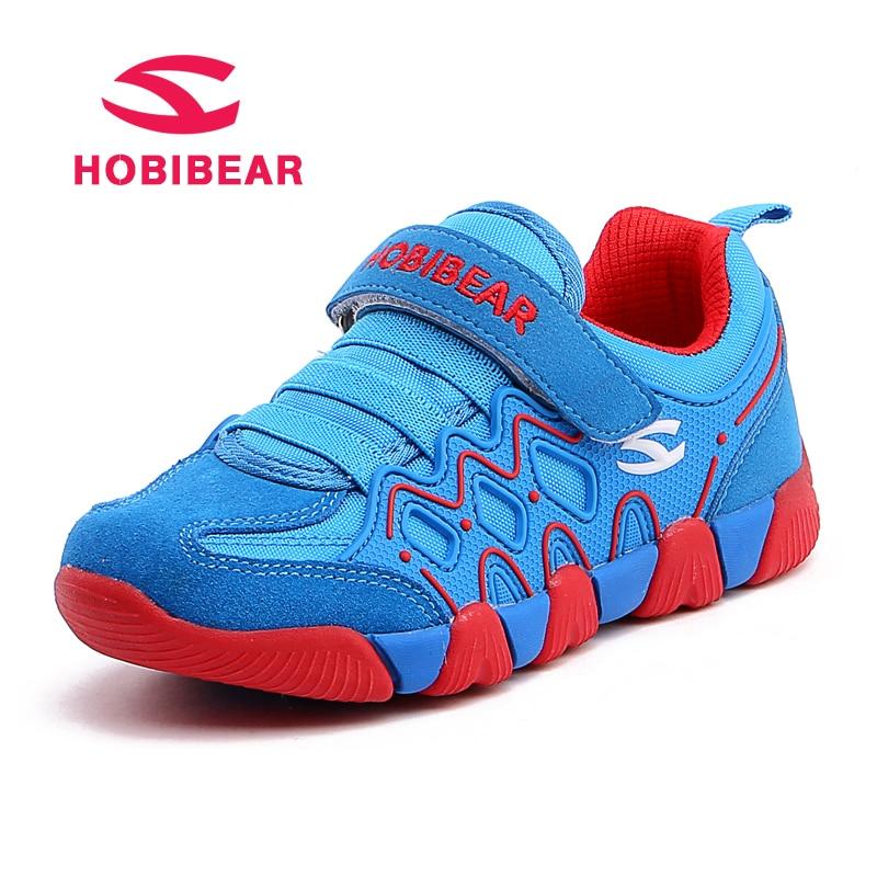 купить HOBIBEAR New Spring Kids Boys Sneaker Shoes For Girls Genuine Leather Sneakers Girls Children Shoe Breathable School Casual Shoe по цене 890.77 рублей