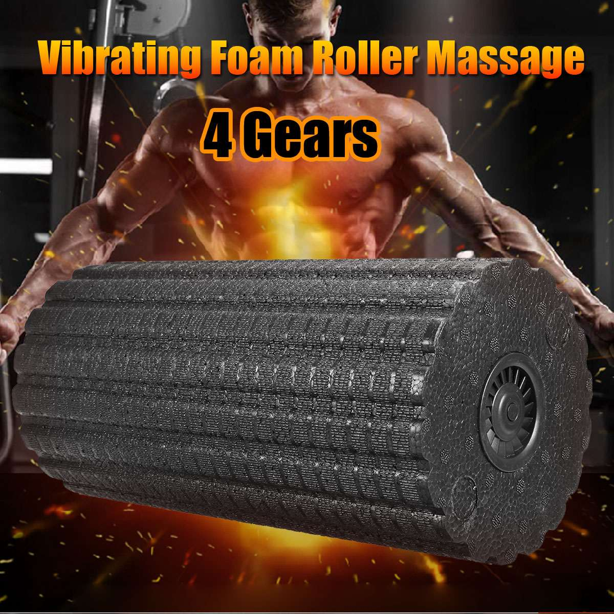 Kifit Yoga Foam Roller Massage Electric Vibrator Relaxing Foam Roller Massage Electric For Fitness Roller Body Slimming 4 Speed 30cm 15cm electric vibration eva foam roller floating point fitness massage roller 3 speed adjustable for physical therapy