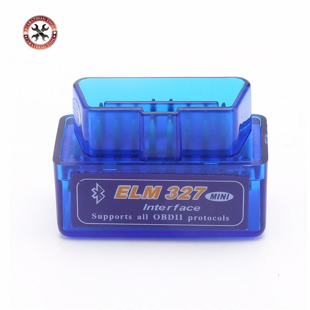 Scanner de diagnóstico automotivo, ferramenta de diagnóstico automotivo com super mini elm327, bluetooth v2.1, obd2 327