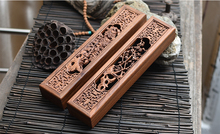 Afric Yellow Acid Wood Hollow Wooden Incense Burner With Gift Box Chrysanthemum Plum Buddhist Holder Free Shipping